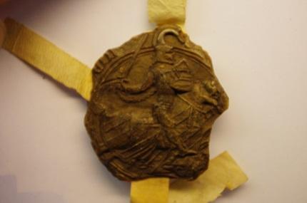Le sceau de Pierre I de Montagu, 1367